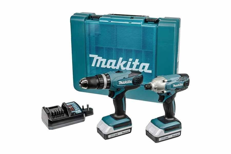 MAKITA-Pack-perceuse-visseuse-a-percussion-HP457D-&-visseuse-a-chocs-TD127D