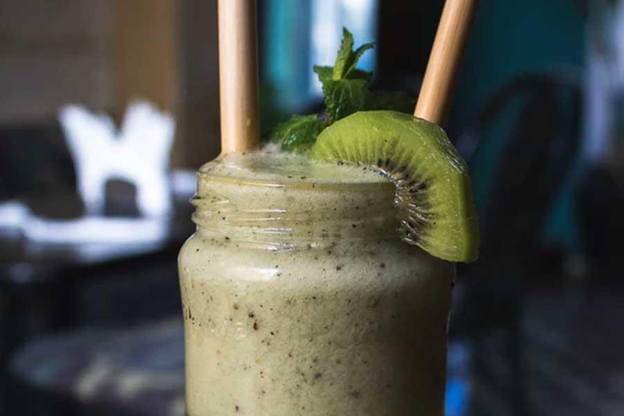 Frullato mela verde, kiwi e cetrioli